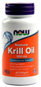 Óleo de Krill Neptune, Now Foods, 500 mg, 60 Softgels