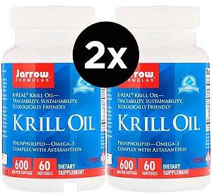 2X Óleo de Krill, Jarrow Formulas, 60 Cápsulas Gelatinosas