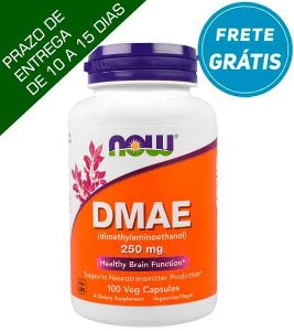 DMAE, Now Foods, 250 mg, 100 Cápsulas