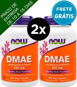 2X DMAE, Now Foods, 250 mg, 100 Cápsulas