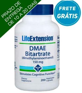 DMAE Bitartrato, Life Extension, 150 mg, 200 Cápsulas Vegetais
