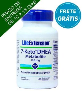 Life Extension 7-Keto DHEA Metabolite | 100 mg, 60 cápsulas vegetais