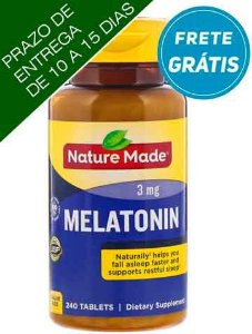 Melatonina, Nature Made, 3 mg, 240 Comprimidos