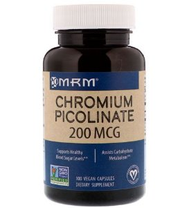 Picolinato de Cromo 200mcg, de alta potência, 100 Cápsulas - MRM