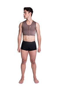 colete curto com fecho frontal masculino linha premium