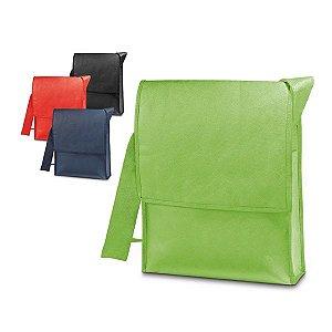 Bolsa à tiracolo. Non-woven: 100 g/m². Com fechamento em velcro