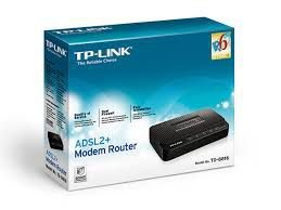 Modem Roteador TP-Link ADSL2+ Ready Preto TD-8816