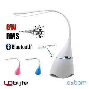 Abajur Luminária em LED Caixa de Som bluetooth Exbom
