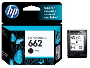 Cartucho de Tinta HP 662 Preto