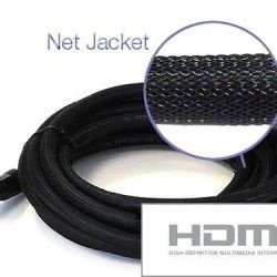 Cabo HDMI x HDMI 3D Nylon conectores dourados V1.4