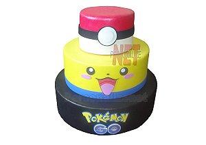 Bolo Eva Fake Decorativo Pokemon