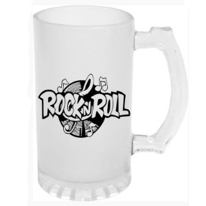 Caneca de Chopp Jateada Rock in Roll