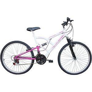 Bicicleta Aro 26 Mormaii Full Fa 240 Suspensão-Aço 18 Marchas