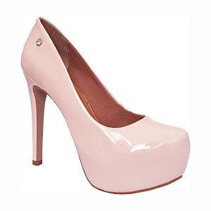 ba2b4c220 Scarpin Le Bianco Glamour Salto Alto Fino Rosa Quartzo Em Verniz Meia Pata  Interna zoom