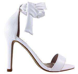 Sandália Le Bianco Filadélfia Salto Alto Fino Branca em Calf