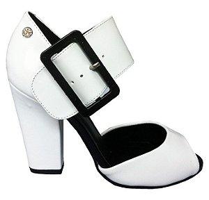 Sandália Verniz Black White Le Bianco 508