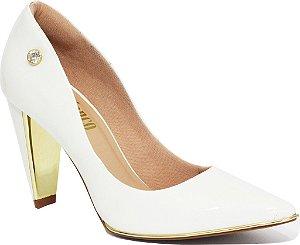 scarpin verniz branco lux Le Bianco 553