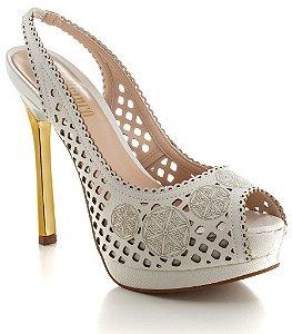 Peep Toe Chanel Indiana Le Bianco- 591