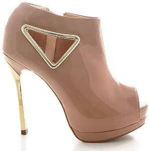 Ankle Boot Tivoli Le Bianco 582 (Verniz cor nude)