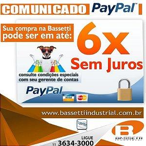 Compre com Paypal em até 6 x sem juros