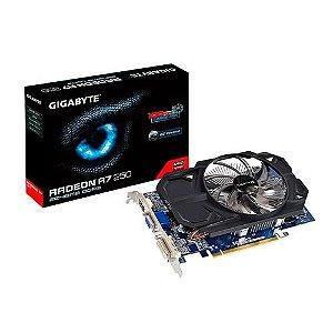 PLACA DE VIDEO GIGA BYTE R7 240 2GB DDR3 OC FANSINK 128B  GV-R724OC-2GI REV2