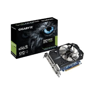 PLACA DE VÍDEO GTX750TI 1GB OC DDR5 2DVI / 2HDMI GIGABYTE GV-N75TOC-1GI REV2.0