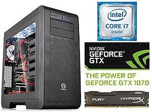 COMPUTADOR UNYGAMER CEEFI CSGO INTEL CORE 6700K / GTX 1070 / 1TB / SSD 240 / 32 GB  DDR4 2400 / HYDRO