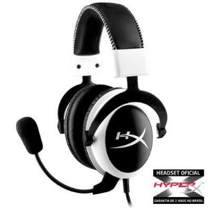 Headset Kingston HyperX Cloud Pro Gaming White - KHX-H3CLW