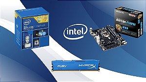 KIT GAMER - PROC INTEL I3 - 4170 (4º GERAÇÃO) / PLACA MÃE GIGABYTE B85M-D3PH (32GB) / (2X) 4GB MEMÓRIA DDR3 HYPERX 1600MHz