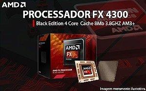 PROCESSADOR AMD FX 4300 BLACK EDITION AM3 + 3,8 GHZ