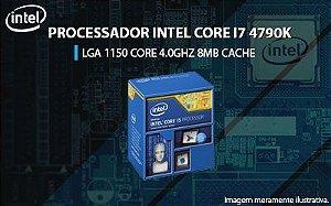 PROCESSADOR INTEL I7-4790K LGA1150 CORE 4.0GHZ 8MB