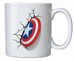 caneca escudo capitão América