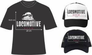 camisetas e bonés Locomotive