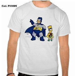 Camiseta Simpsons Sátira Batman e Robin