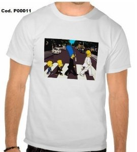 Camiseta Simpsons Sátira Beatles
