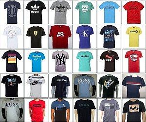 kit 100 camisetas adidas nike puma boss calvin klein lacoste ferrrari