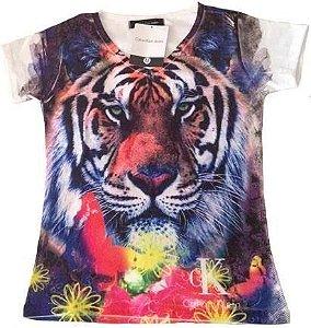 Camisetas femininas Calvin Klein gola V kit 10 pçs temos hollister lacoste ralph lauren
