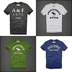 Camisetas Hollister e Abercrombie original kit 10 pçs