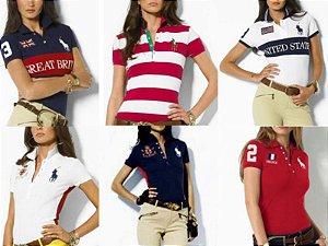 Polos femininas Multimarcas atacado kit 10 pçs sacoleiras lojistas marcas famosas