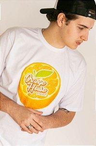 Camiseta Orange House Laranja Fresh Branca