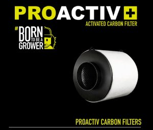 Filtro de Carvão Garden HighPro PROACTIV 125MM/250M3/H