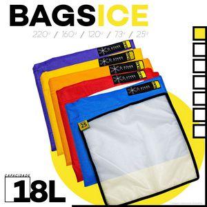 Kit c/ 5 Bags Ice (18L) + Tela De Secagem 6Stars Extract