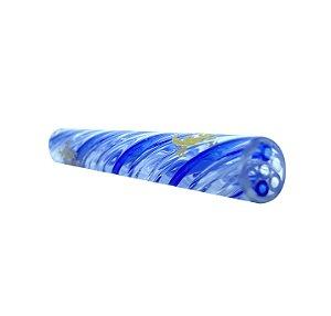 Piteira de Vidro Zeca Geladinho X Gecko Glass Blue Pipe