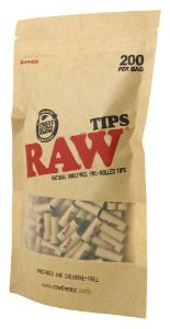 RAW Tips Pré-Rolled 200 Per Bag