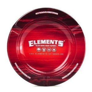 Cinzeiro de Metal Elements Red Vermelho Ashtray