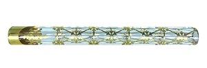 Piteira de Vidro Zeca Geladinho Geometria Gelada Dourada