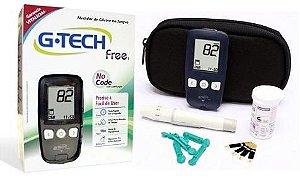 Kit Medidor de Glicose + 50 Tiras Reagentes + 100 Lancetas G-Tech Free