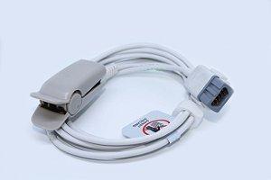 Cabo Sensor de Oximetria SPO2 TS-F4-MC GE TruSat DB-9 Pinos