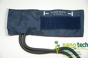 Braçadeira Infantil em Nylon com Fecho Velcro para Esfigmomanômetro Premium