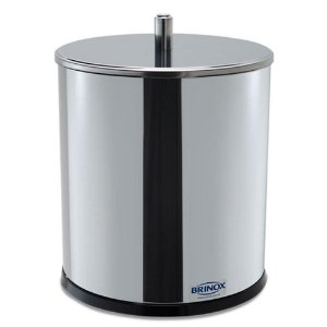 Lixeira Inox com tampa Diametro 18x23cm - 3030/202  Brinox